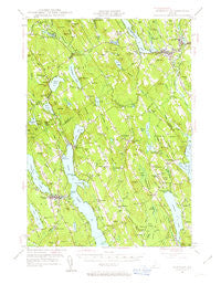 Norway Maine Historical topographic map, 1:62500 scale, 15 X 15 Minute, Year 1946