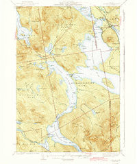 Oquossoc Maine Historical topographic map, 1:62500 scale, 15 X 15 Minute, Year 1942