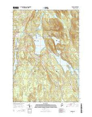 Orland Maine Current topographic map, 1:24000 scale, 7.5 X 7.5 Minute, Year 2014 from Maine Maps Store