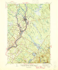 Orono Maine Historical topographic map, 1:62500 scale, 15 X 15 Minute, Year 1946