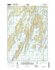Orrs Island Maine Current topographic map, 1:24000 scale, 7.5 X 7.5 Minute, Year 2014 from Maine Maps Store