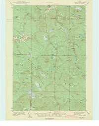 Oxbow Maine Historical topographic map, 1:62500 scale, 15 X 15 Minute, Year 1942