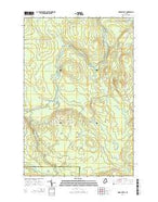 Oxbow East Maine Current topographic map, 1:24000 scale, 7.5 X 7.5 Minute, Year 2014 from Maine Map Store