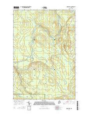 Oxbow East Maine Current topographic map, 1:24000 scale, 7.5 X 7.5 Minute, Year 2014 from Maine Maps Store