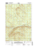 Oxbow West Maine Current topographic map, 1:24000 scale, 7.5 X 7.5 Minute, Year 2014 from Maine Map Store