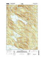 Oxbrook Lakes Maine Current topographic map, 1:24000 scale, 7.5 X 7.5 Minute, Year 2014 from Maine Map Store
