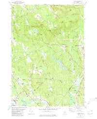 Oxford Maine Historical topographic map, 1:24000 scale, 7.5 X 7.5 Minute, Year 1980