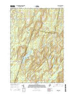 Palermo Maine Current topographic map, 1:24000 scale, 7.5 X 7.5 Minute, Year 2014 from Maine Map Store