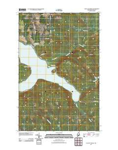 Paulette Brook Maine Historical topographic map, 1:24000 scale, 7.5 X 7.5 Minute, Year 2011