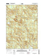 Porcupine Mountain Maine Current topographic map, 1:24000 scale, 7.5 X 7.5 Minute, Year 2014 from Maine Map Store