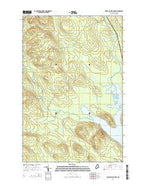 Portage Lake West Maine Current topographic map, 1:24000 scale, 7.5 X 7.5 Minute, Year 2014 from Maine Map Store