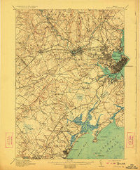 Portland Maine Historical topographic map, 1:62500 scale, 15 X 15 Minute, Year 1916