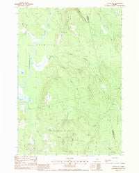 Potter Hill Maine Historical topographic map, 1:24000 scale, 7.5 X 7.5 Minute, Year 1988