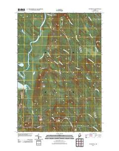 Potter Hill Maine Historical topographic map, 1:24000 scale, 7.5 X 7.5 Minute, Year 2011