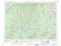 Presque Isle Maine Historical topographic map, 1:250000 scale, 1 X 2 Degree, Year 1960