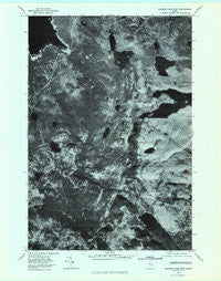 Rainbow Lake West Maine Historical topographic map, 1:24000 scale, 7.5 X 7.5 Minute, Year 1978
