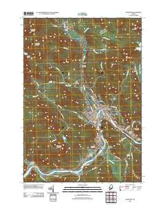 Rumford Maine Historical topographic map, 1:24000 scale, 7.5 X 7.5 Minute, Year 2011