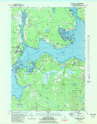 Salsbury Cove Maine Historical topographic map, 1:24000 scale, 7.5 X 7.5 Minute, Year 1981
