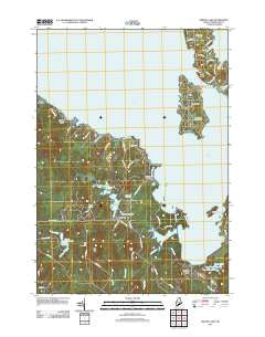 Sebago Lake Maine Historical topographic map, 1:24000 scale, 7.5 X 7.5 Minute, Year 2011