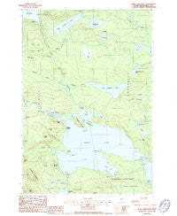 Sebec Lake West Maine Historical topographic map, 1:24000 scale, 7.5 X 7.5 Minute, Year 1988