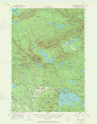 Sebec Lake Maine Historical topographic map, 1:62500 scale, 15 X 15 Minute, Year 1950