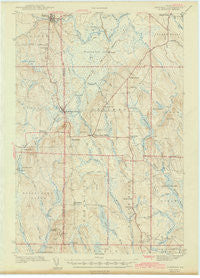 Sherman Maine Historical topographic map, 1:62500 scale, 15 X 15 Minute, Year 1942