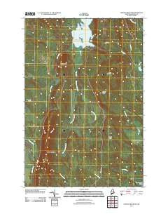 Stetson Mountain Maine Historical topographic map, 1:24000 scale, 7.5 X 7.5 Minute, Year 2011