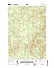 Telos Brook Maine Current topographic map, 1:24000 scale, 7.5 X 7.5 Minute, Year 2014 from Maine Maps Store