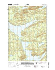 Telos Lake Maine Current topographic map, 1:24000 scale, 7.5 X 7.5 Minute, Year 2014 from Maine Maps Store