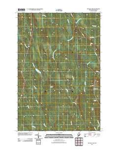 Ten Mile Lake Maine Historical topographic map, 1:24000 scale, 7.5 X 7.5 Minute, Year 2011