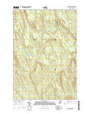 Ten Mile Lake Maine Current topographic map, 1:24000 scale, 7.5 X 7.5 Minute, Year 2014 from Maine Maps Store