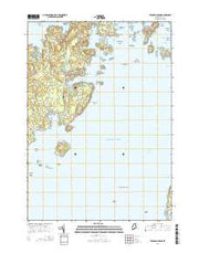 Tenants Harbor Maine Current topographic map, 1:24000 scale, 7.5 X 7.5 Minute, Year 2014 from Maine Maps Store