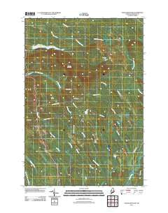 Tomah Mountain Maine Historical topographic map, 1:24000 scale, 7.5 X 7.5 Minute, Year 2011