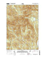 Tumbledown Mountain Maine Current topographic map, 1:24000 scale, 7.5 X 7.5 Minute, Year 2014 from Maine Maps Store