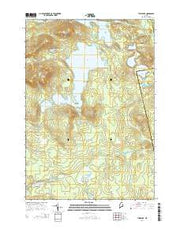 Tunk Lake Maine Current topographic map, 1:24000 scale, 7.5 X 7.5 Minute, Year 2014 from Maine Maps Store