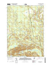 Tunk Mountain Maine Current topographic map, 1:24000 scale, 7.5 X 7.5 Minute, Year 2014 from Maine Maps Store