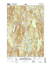 Turner Center Maine Current topographic map, 1:24000 scale, 7.5 X 7.5 Minute, Year 2014 from Maine Maps Store