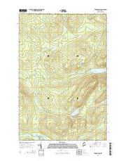 Turner Pond Maine Current topographic map, 1:24000 scale, 7.5 X 7.5 Minute, Year 2014 from Maine Maps Store