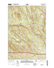 Twin Brook Maine Current topographic map, 1:24000 scale, 7.5 X 7.5 Minute, Year 2014 from Maine Maps Store