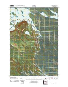 Vanceboro Maine Historical topographic map, 1:24000 scale, 7.5 X 7.5 Minute, Year 2011