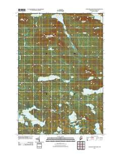 Wadleigh Mountain Maine Historical topographic map, 1:24000 scale, 7.5 X 7.5 Minute, Year 2011