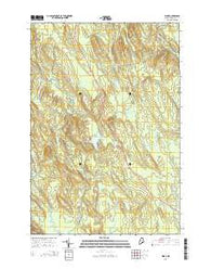 Waite Maine Current topographic map, 1:24000 scale, 7.5 X 7.5 Minute, Year 2014