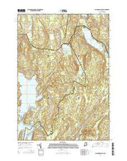 Waldoboro East Maine Current topographic map, 1:24000 scale, 7.5 X 7.5 Minute, Year 2014 from Maine Maps Store
