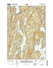 Waldoboro West Maine Current topographic map, 1:24000 scale, 7.5 X 7.5 Minute, Year 2014 from Maine Maps Store