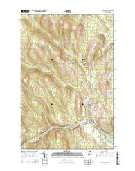 Washburn Maine Current topographic map, 1:24000 scale, 7.5 X 7.5 Minute, Year 2014