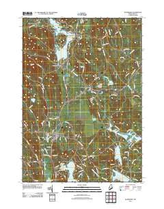 Waterboro Maine Historical topographic map, 1:24000 scale, 7.5 X 7.5 Minute, Year 2011