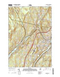Waterville Maine Current topographic map, 1:24000 scale, 7.5 X 7.5 Minute, Year 2014