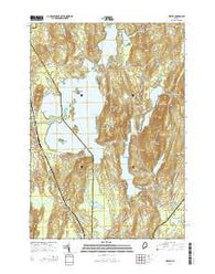 Wayne Maine Current topographic map, 1:24000 scale, 7.5 X 7.5 Minute, Year 2014