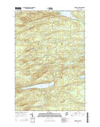 Webster Lake Maine Current topographic map, 1:24000 scale, 7.5 X 7.5 Minute, Year 2014