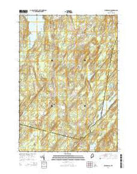 Weeks Mills Maine Current topographic map, 1:24000 scale, 7.5 X 7.5 Minute, Year 2014
